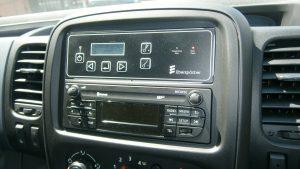 In cab controls in Jiffy Van