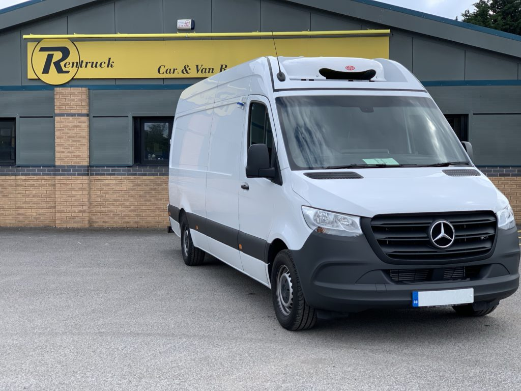 Mercedes Sprinter 313 outside Rentruck