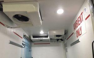 Inside Pharmaceutical Sprinter Van without Bulkhead