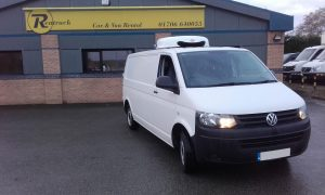 The volkswagen caddy, one of cool running rentals best sellin refrigerated vans