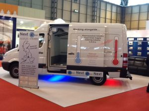 Temperature Controlled Vans at exhibition