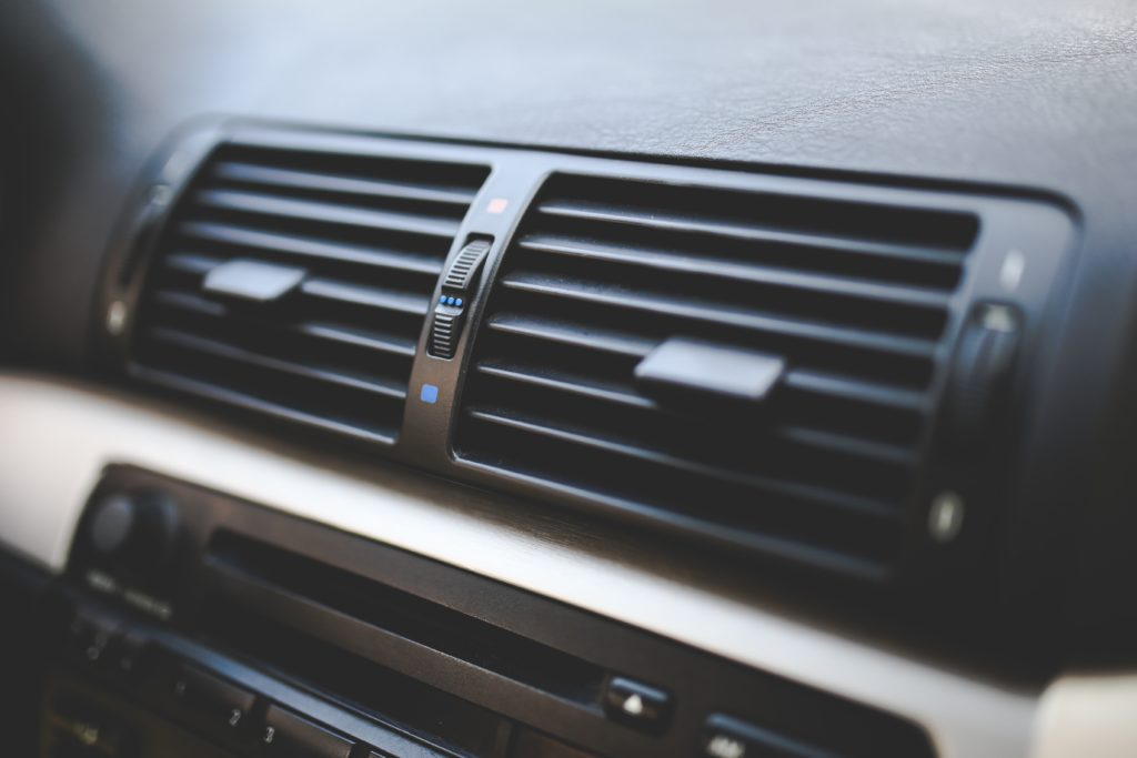 air conditioning vents inside a car
