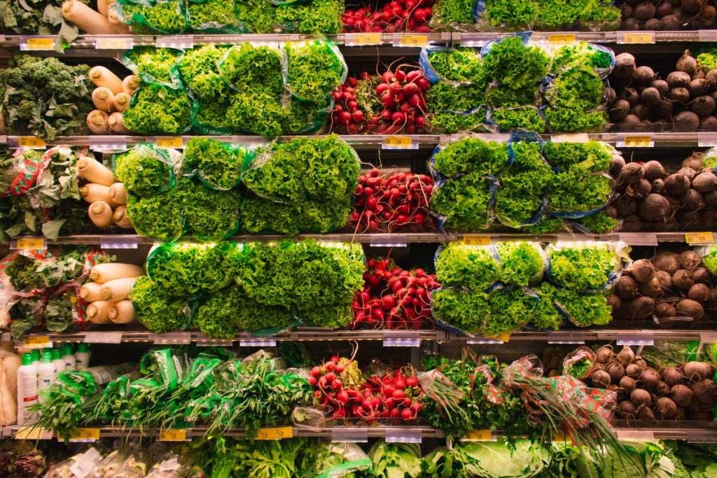 Greenery in the supermarket